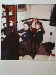Jessica and Alicia Cook as children. Jessica is now dead.