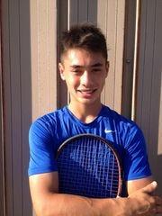 Memorial boys' tennis standout Brandon Wu