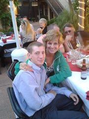 Cory Taylor and his mom, Kathy.