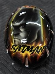 A custom painted Batman helmet done by Springfield-based Hot Rods and Handlebars for 15-year-old Abigail Kopf. Kopf is one of two survivors from a random shooting spree Feb. 20 in Kalamazoo County.