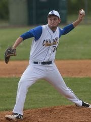 Spotswood's Matt Ciaccio pitches in a game against Middlesex last season.