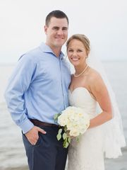Tommy and Ali Joseph on their wedding day, July 21, 2016. The pair began dating in middle school.