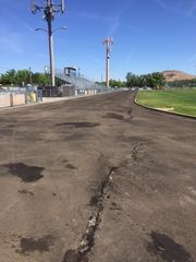 The track at Reed before being replaced last year.