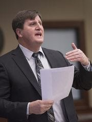 Paul Bernier during a misdemeanor animal abuse case in Livonia's 16th District Court in 2017. Bernier was named the next city attorney for Livonia.