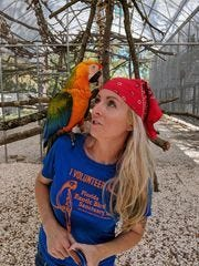 Zsa Zsa the parrot will announce the Bucs' picks on Day 3 of the draft.