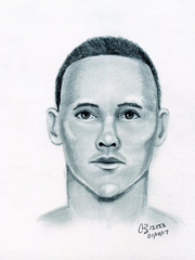 An artist sketched a man suspected of sexually assaulting
