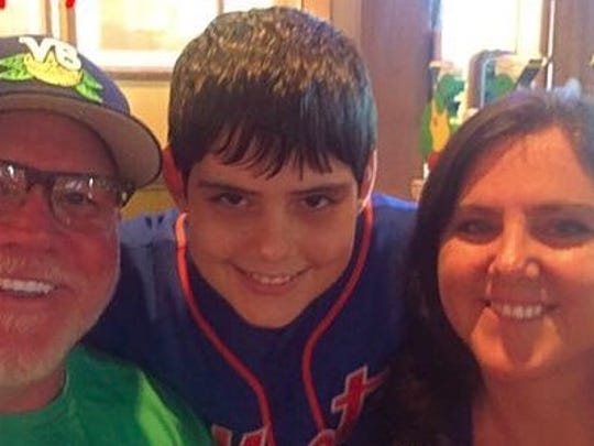 The Falana family: Robb, Alec and Allison.