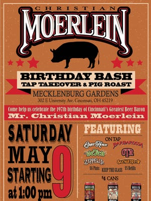 A birthday bash will take place at Mecklenburg Gardens, 302 E. University Ave. in Corryville.