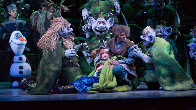 Kristoff takes Anna to the trolls In 'Frozen – Live at the Hyperion.'