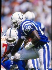 Running back Marshall Faulk during the 1994 season.
