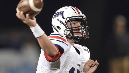 MRA quarterback Hayden Davis will likely miss the remainder