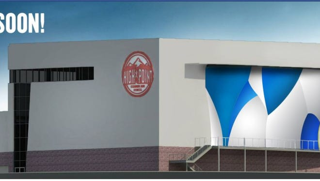 Architectural rendering of the High Point Climbing gym planned for Memphis.