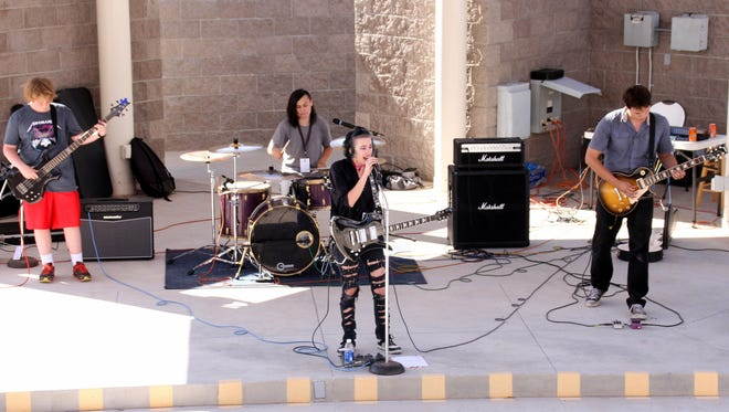 Skeletarus headlined Deming's first-ever Community Music Festival on Saturday at the Voiers' Pit Park Amphitheater.