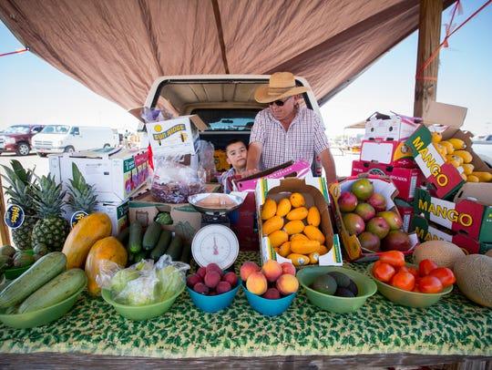At Big Daddy's Flea Market in Las Cruces, 5-year-old