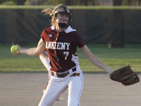 Ankeny's pitchers Shelbie Chambers (pictured) and Paige Jacobsen both return for senior seasons after combining to throw 162 innings this season.