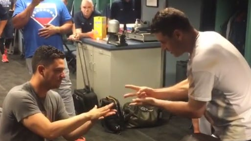 Jose Iglesias lost at rock-paper-scissors and paid a heavy price.