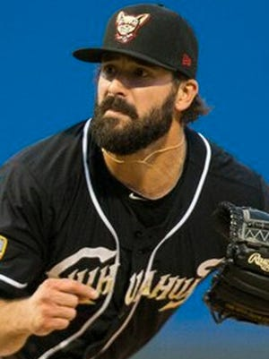 El Paso Chihuahuas pitcher Michael Dimock was suspended Monday for violating the minor league drug abuse policy.