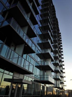 The Twelve Twelve building is a 23 story high rise condominium building in the gulch Thursday Dec. 11, 2014, in Nashville, Tenn.