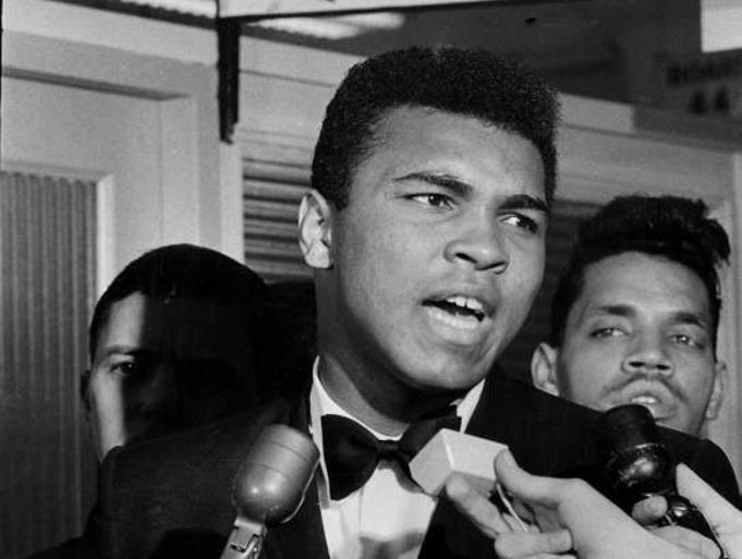 Muhammad Ali at the draft board office in Louisvile, March 17, 1966.