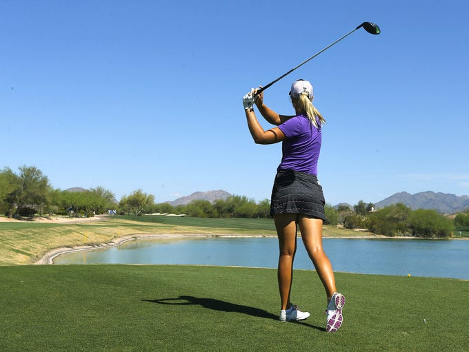 Anna Nordqvist hits from the 2nd tee during the final
