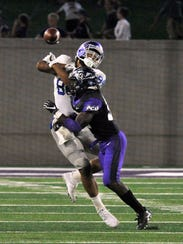 Abilene Christian University safety Bolu Onifade makes
