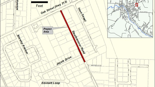 Silverton's Steelhammer Road to close Oct. 16-20 as crews complete a paving operation.