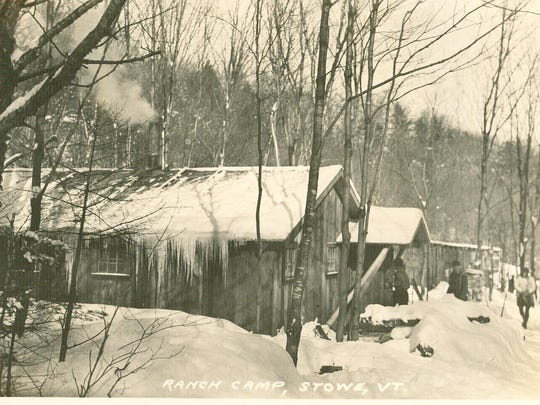 Ranch Camp was an old logging camp in a valley near the base of Mount Mansfield north of Stowe. In the early 1930s it became an early base lodge with bunk beds, wood stove, outhouses and meals of baked beans. The Bruce Trail was a short walk from Ranch Camp.