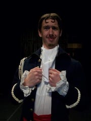 "Cameron as Shpekin, the Postmaster, in Northwestern State production of ""The Government Inspector"", 2010"