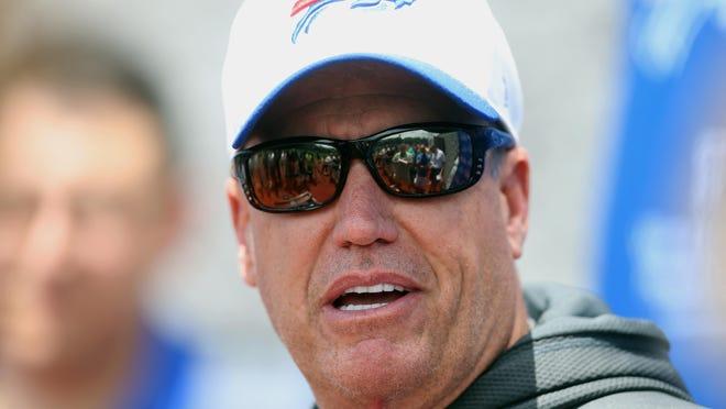 Bills head coach Rex Ryan speaks with the media.