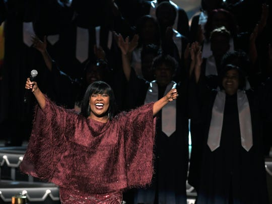 CeCe Winans performs during the 8th annual CMA Country Christmas show on Tuesday, Nov. 14, 2017 at the Grand Ole Opry.