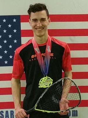 Josh Nelson won two national titles and helped Sprague finish second in the 2017 National High School Racquetball Championships in St. Louis, Missouri.