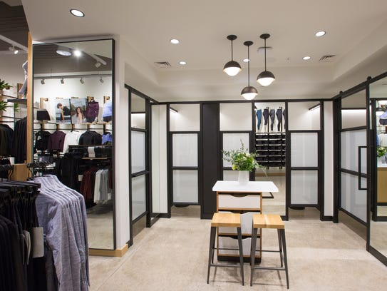 An interior shot of the new lululemon store at Eastwood