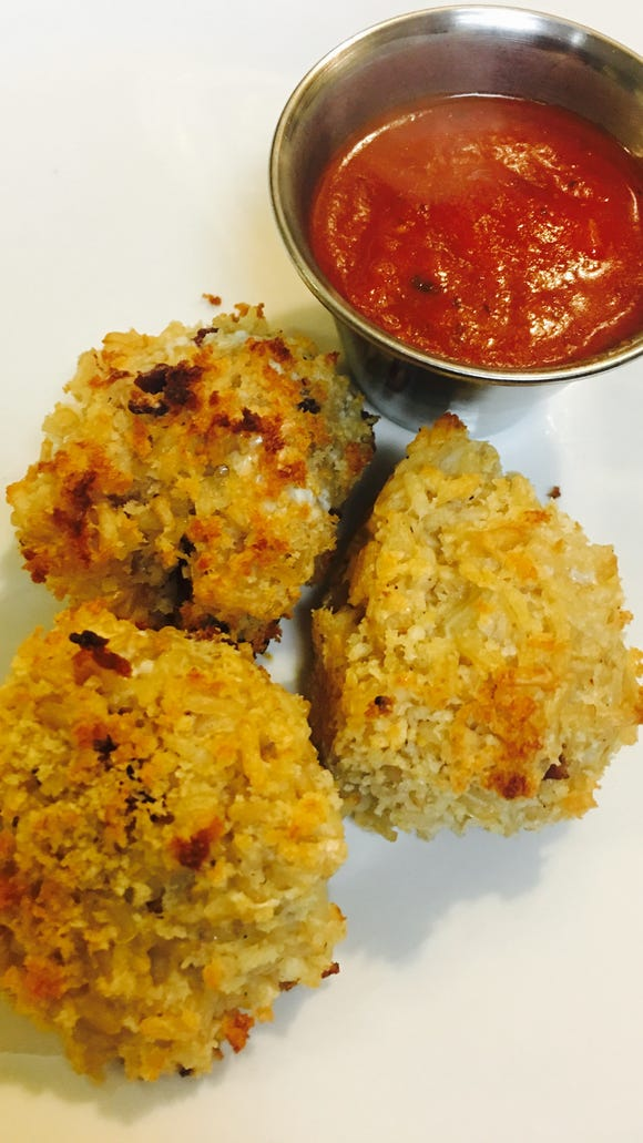 Try these rice balls this weekend with your favorite marinara.