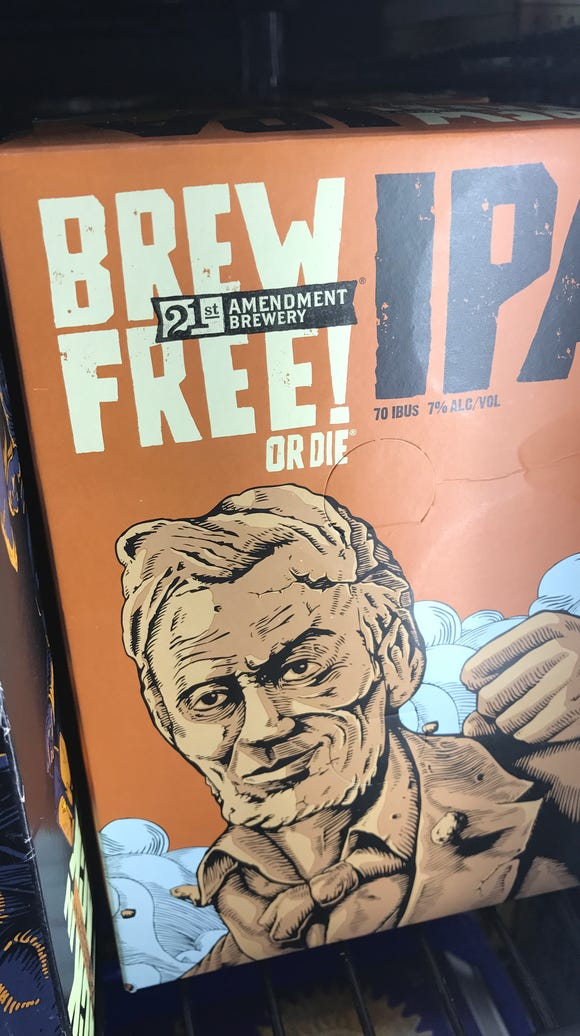 21st Amendment Brewery offers a Brew Free! Or Die IPA.