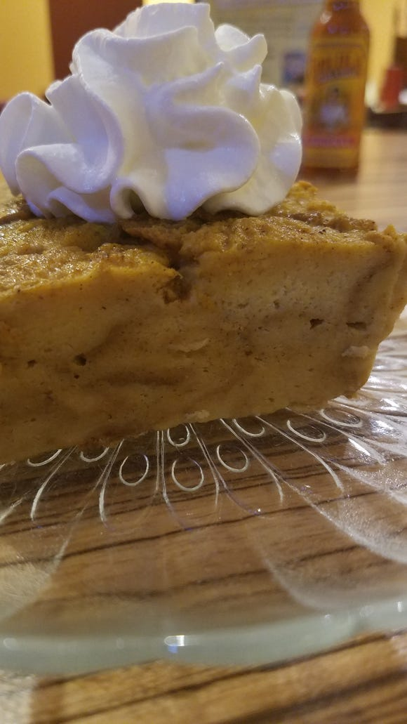 You can end the meal on a sweet note with Pumpkin Bread Pudding at Tortilla Press.