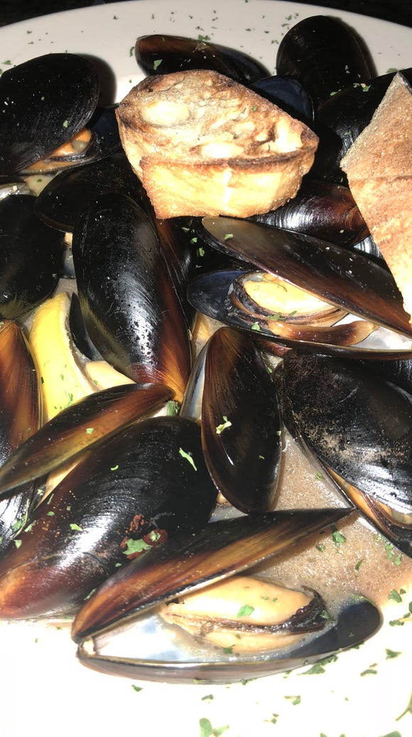 The steamed mussels at McNally's.