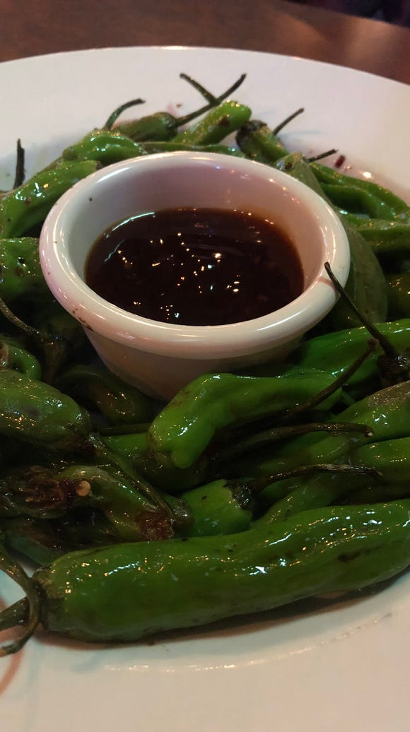 Wiley's shishito peppers.