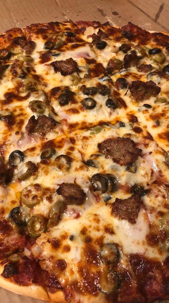 Pizza Man's Pizza Man Supreme.
