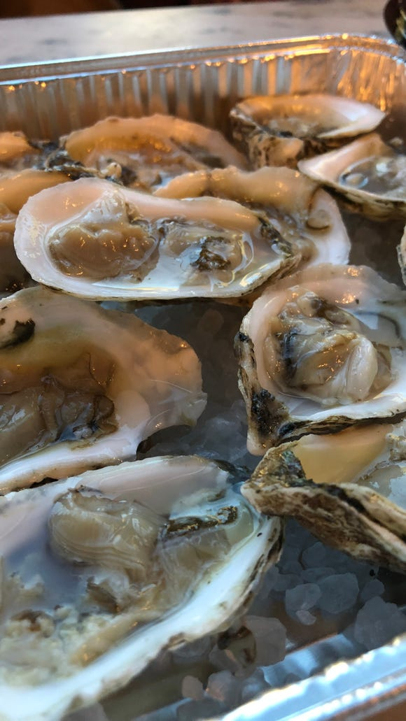Oysters from Dakota Seafood at Friday happy hour at