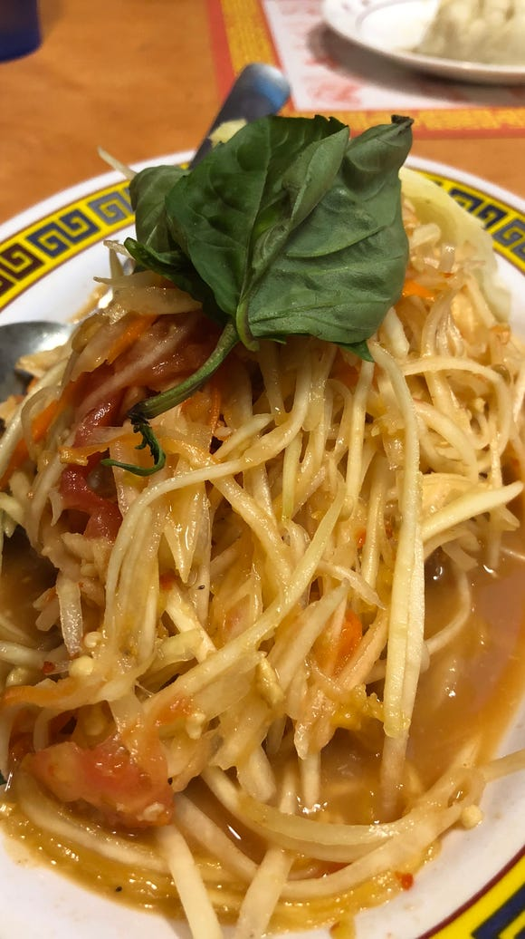 Phnom Penh's green papaya salad.