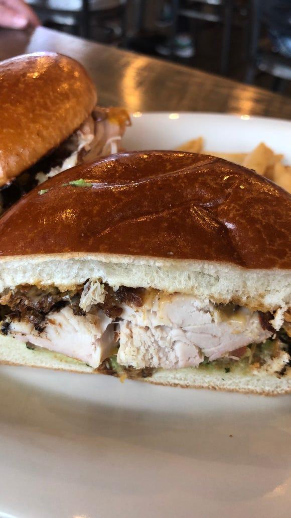 Cowboy Chicken's Laredo sandwich.