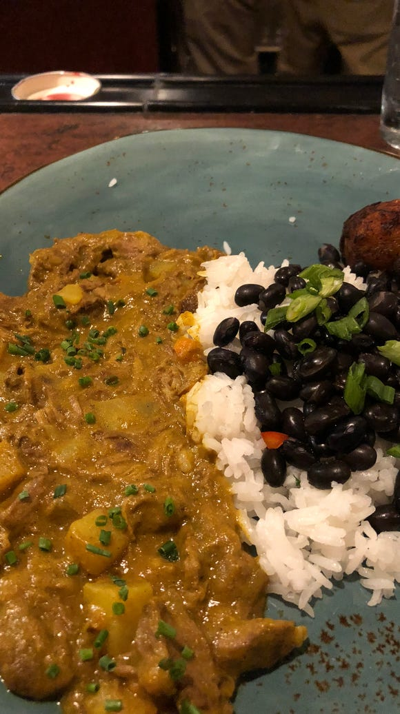 Turks & Caicos' Jamaican curried goat.