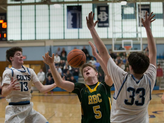 Red Bank Catholic's Charlie Gordonier tries to chase