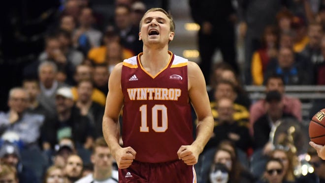 Anders Broman (10) keyed Winthrop's rout of UNC Asheville on Thursday night.