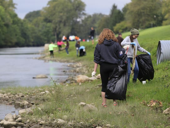 Hundreds of people came out for the White River Cleanup