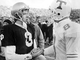 Tennessee quarterback Andy Kelly shakes hands with