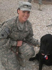 Nikkie Holliday during her time in the U.S. Army.
