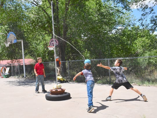 Tetherball gives older kids a chance to work off some