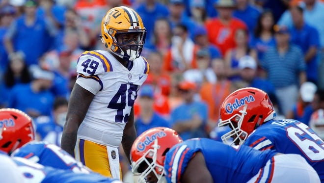 14. Packers — Arden Key, DE/OLB, LSU: On physical tools alone, the 6-6 Key looks like a top-five pick. But concerns about his injury history and substantial weight gain last season will follow him through the pre-draft process. Green Bay needs to reinvigorate its defense, and Key's value at this spot is enticing.