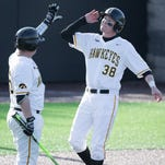 Iowa's Tyler Peyton (38) could be pitching the team's biggest game of the season on Friday.